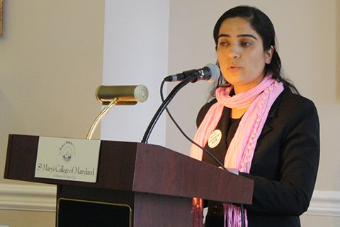Malalai Joya in St. Marry's college